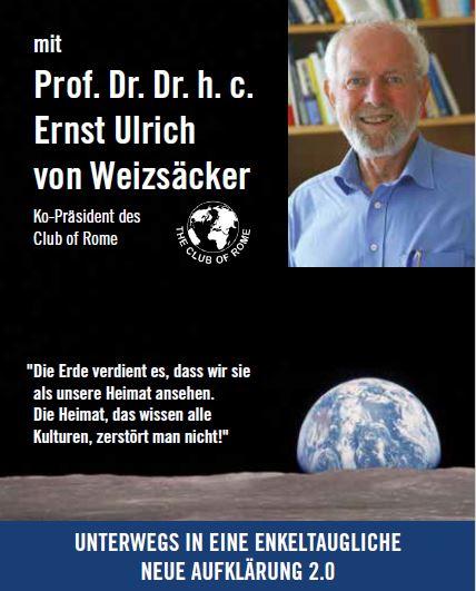 E.U.v. Weizsaecker spricht auf der Hagener Zukunftsveranstaltung Plakat