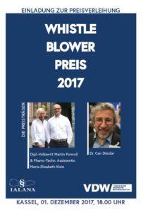 Flyer Einladung zur Preisverleihung des Whistleblower Preieses 2017