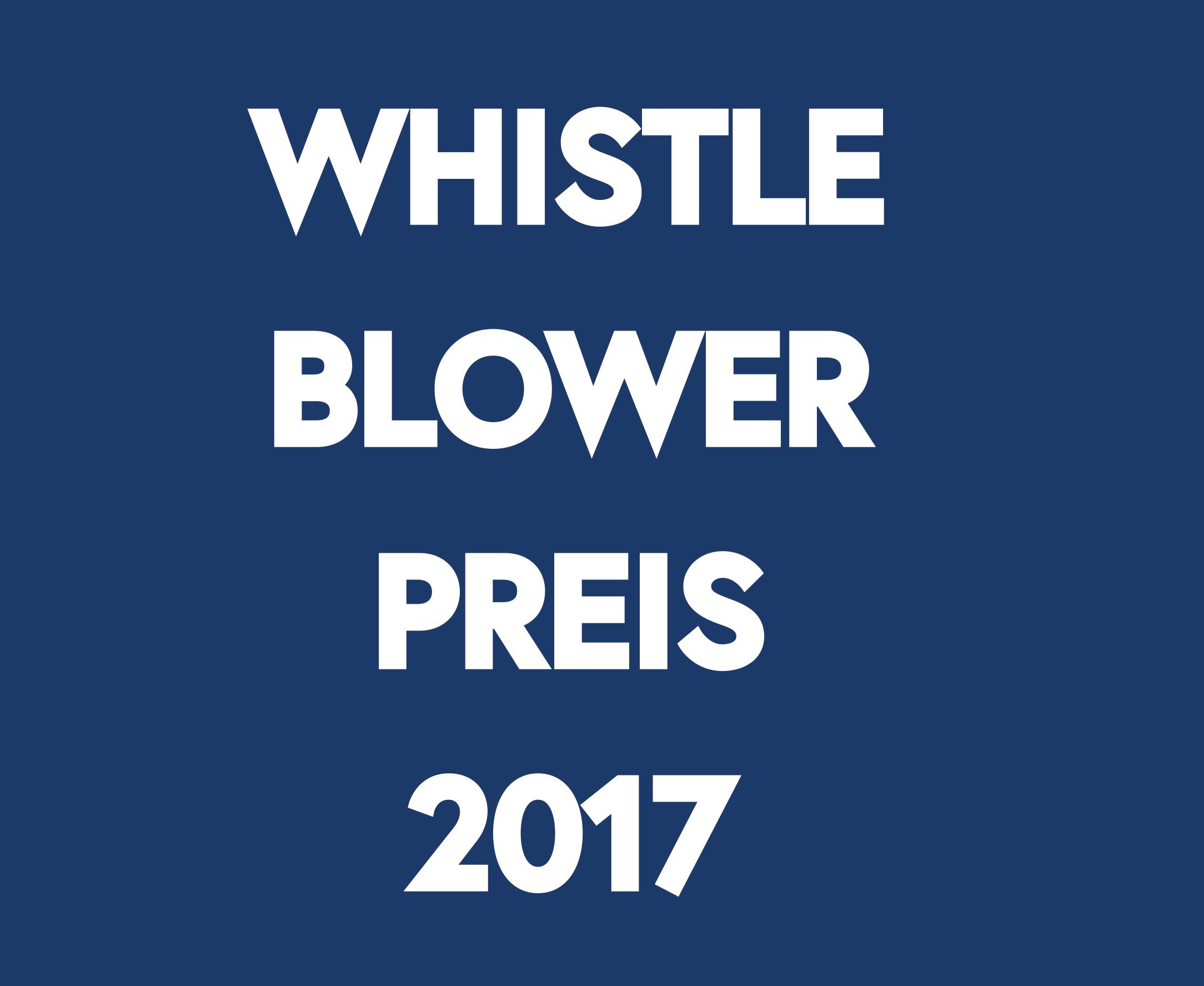 Logo Whistleblower Preis 2017