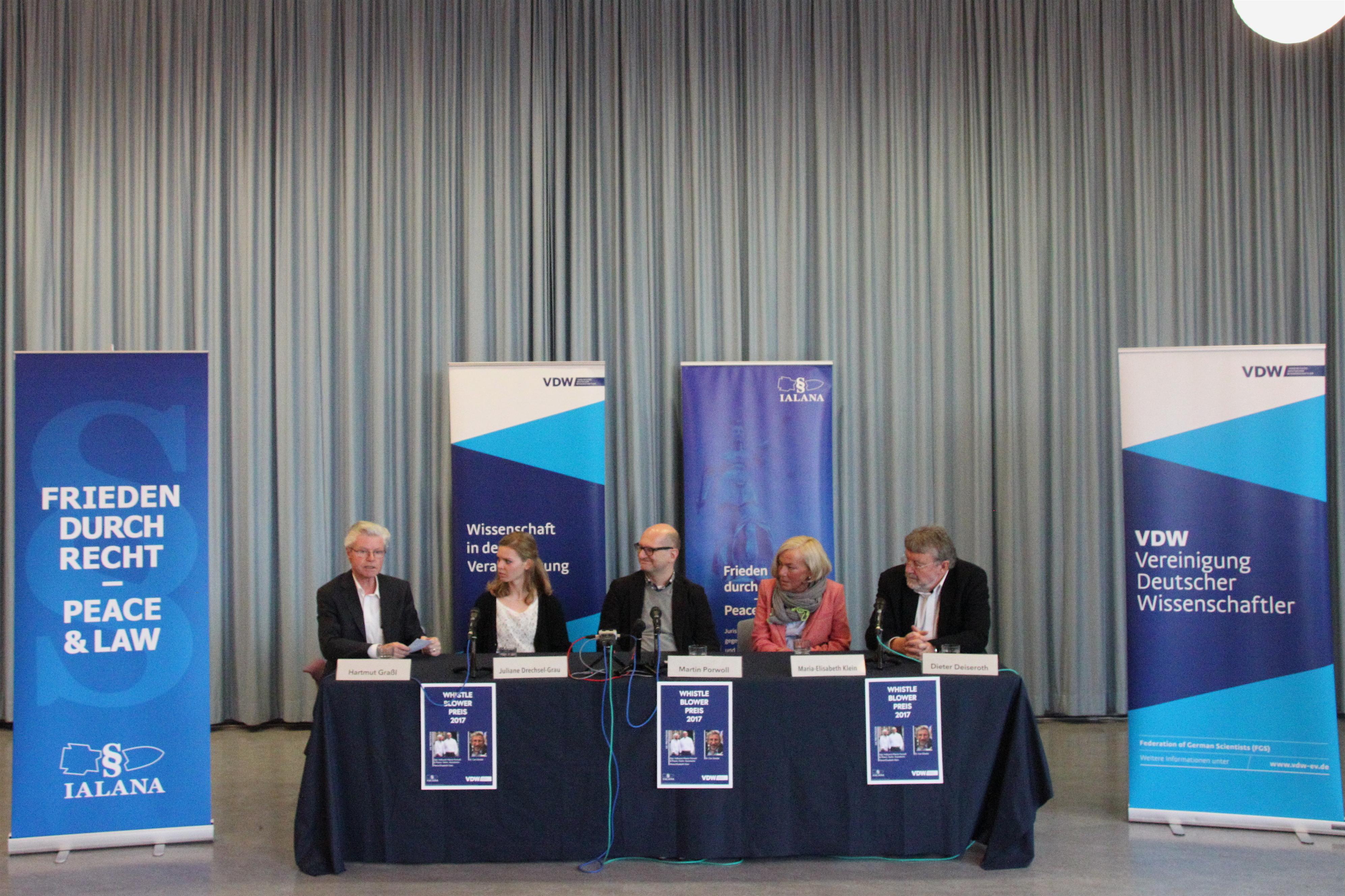 Pressekonferenz des Whistleblower Preis 2017