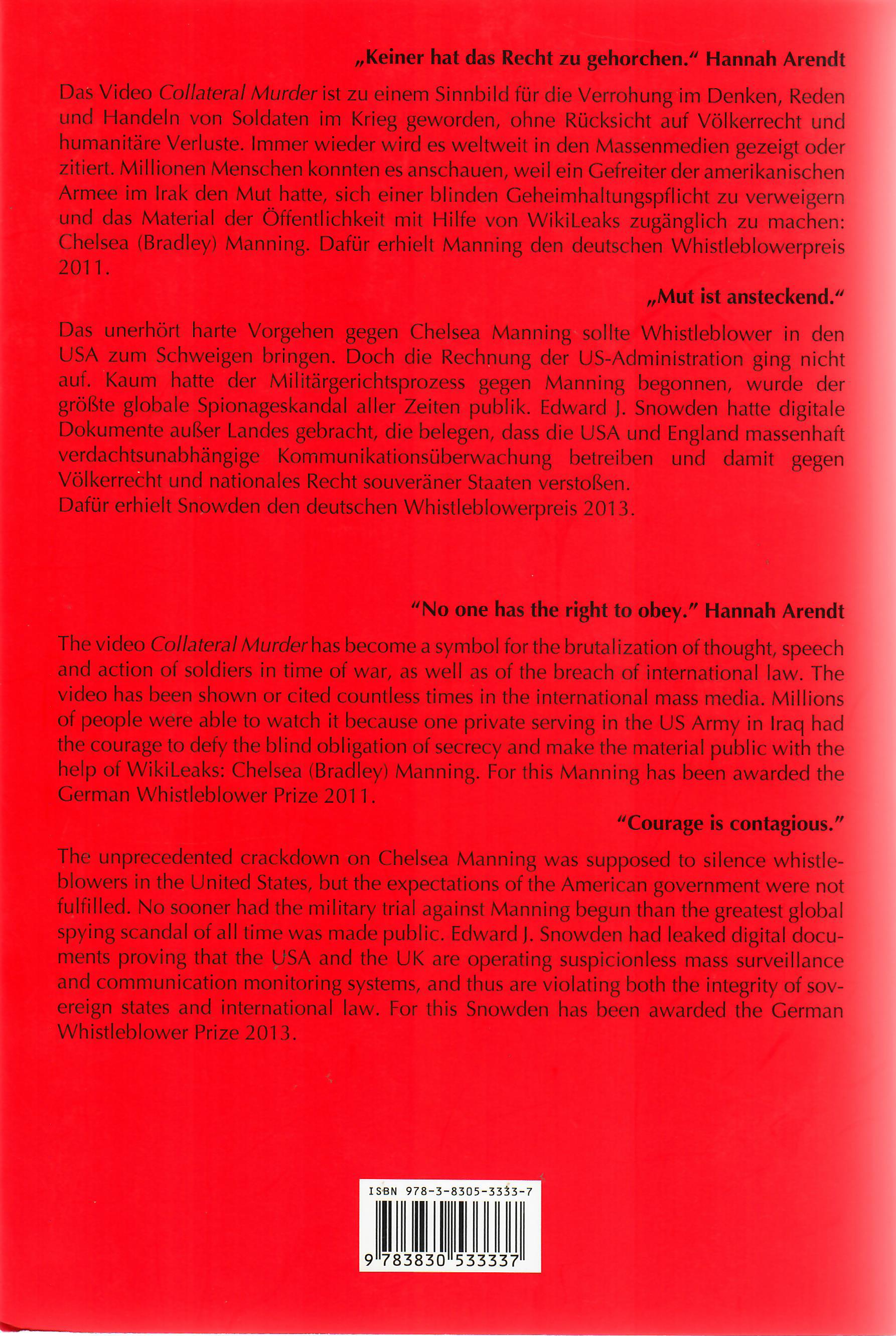 Whistleblower Preis 2011 und 2013 Klappentext