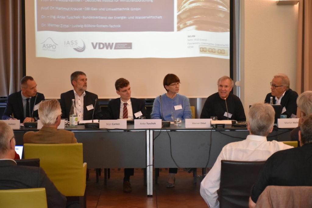 Panel VDW Tagung Erdgasinfrastrukturen im postfossilen Europa
