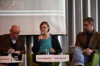 Marita Wiggerthale von Oxfam Deutschland spricht auf der Vorstellung des ATR
