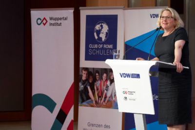 Svenja Schulze auf dem VDW Symposium Wirsinddran 2019