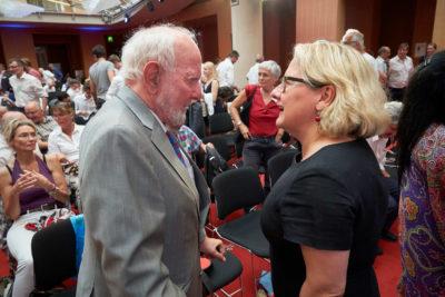 Ernst Ulrich von Weizsaecker und Svenja Schulze auf dem VDW Symposium Wir sind dran 2019