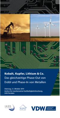 Flyercover VDW-Tagung Kobalt Kupfer Lithium und Co