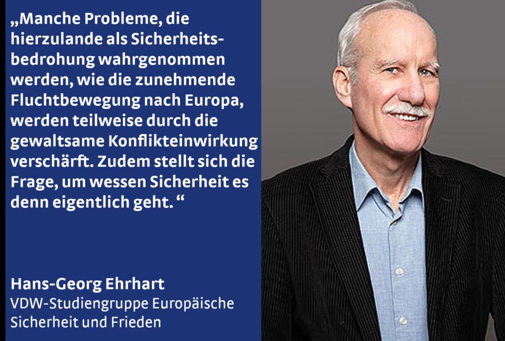 Hans-Georg Ehrhart von der VDW-Studiengruppe Europäische Sicherheit und Frieden