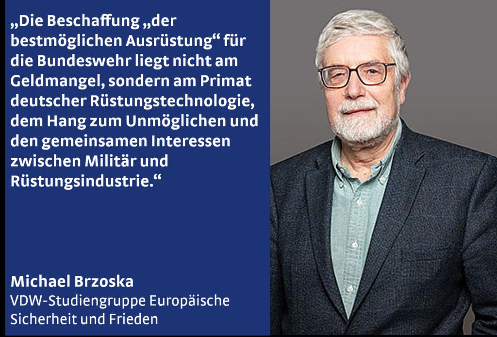Michael Brzoska von der VDW-Studiengruppe Europäische Sicherheit und Frieden