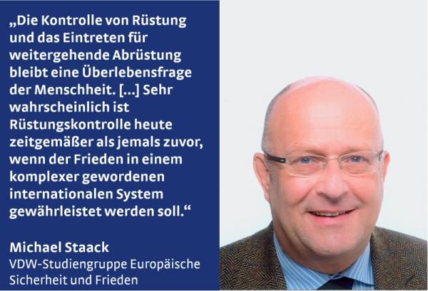 Michael Staack von der VDW-Studiengruppe Europäische Sicherheit und Frieden