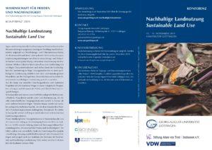 Cover des Flyers der NHK 2019 an der Universität Göttingen